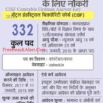 CISF Constable Fireman Answer Key 2018