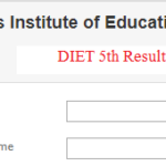 DIET 5th Class Result 2019
