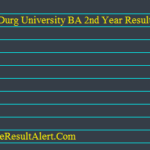 Durg University BA 2nd Year Result 2018