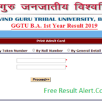 GGTU BA 1st Year Result 2019
