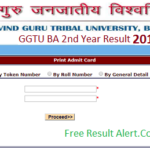 GGTU BA 2nd Year Result 2019