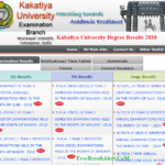 Kakatiya University Degree Results 2018