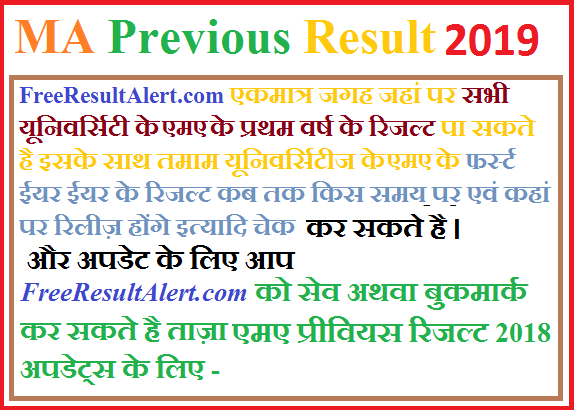 MA Previous Result 2019