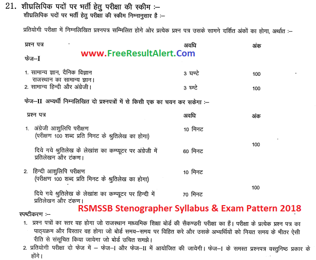 RSMSSB Stenographer Previous Papers & Rajasthan RPSC Steno Old Question Paper