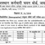 RSMSSB Stenographer Recruitment 2018