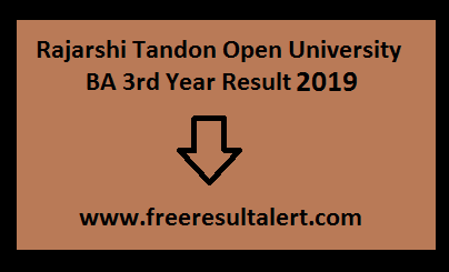 Rajarshi Tandon University BA 3rd / Final Year Result 2019