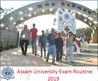 Assam University Exam Routine 2019