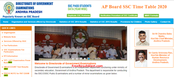 AP Board SSC Time Table 2020