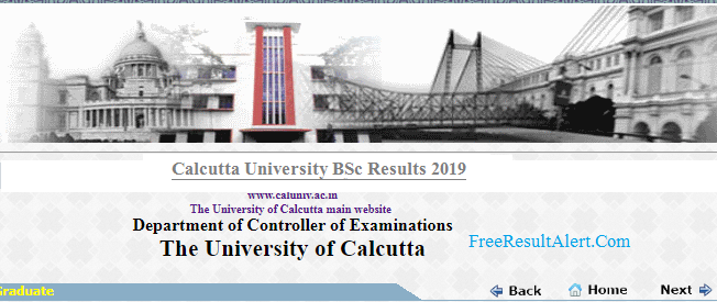 Calcutta University BSc Result 2019