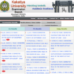 Kakatiya University Degree Results 2019