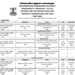 MS University Exam Schedule