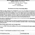 WBHRB Food Safety Officer Result 2018