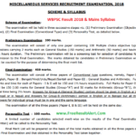 WBPSC Miscellaneous Preliminary Exam Result 2018