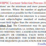 WBPSC Lecturer Admit Card 2018