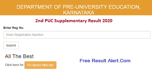 2nd PUC Supplementary Results 2020