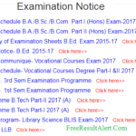 Magadh University Part 3 Date Sheet 2018
