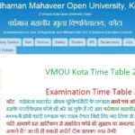VMOU Kota Time Table 2019