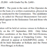 WBPSC Fire Operator Answer Key 2018