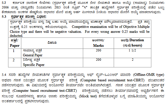 KPSC JTO Admit Card 2018