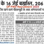 UP PWD Recruitment 2019