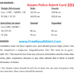Assam Police SI Admit Card 2019