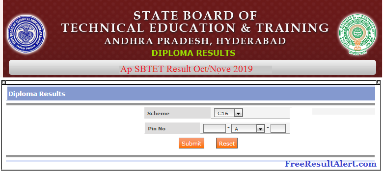 AP SBTET Results Oct Nov 2019
