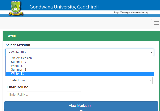 Gondwana University Result Winter 2018