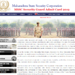 MSSC Security Guard Admit Card 2019