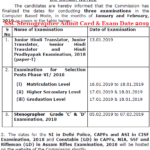 SSC Stenographer Admit Card 2019