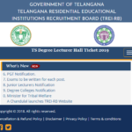 TS Degree Lecturer Hall Ticket 2019