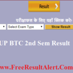 UP BTC 2nd Semester Result 2019
