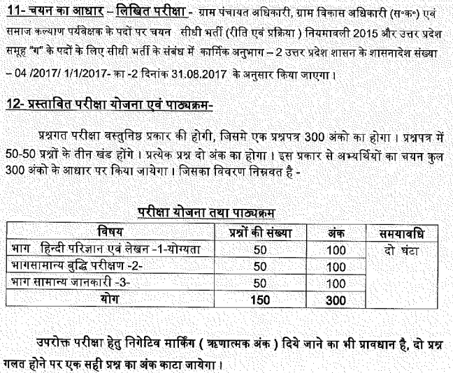 UP VDO Answer Key 2019