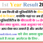 BSc 1st Year Result 2019