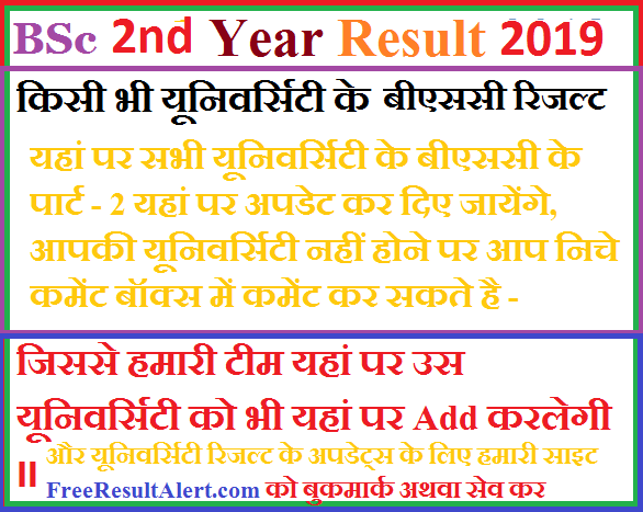 BSc 2nd Year Result 2019