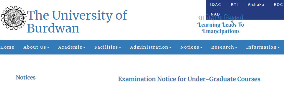 Burdwan University BA 3rd Year Result 2019