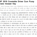 CISF Constable Driver Answer Key 2019