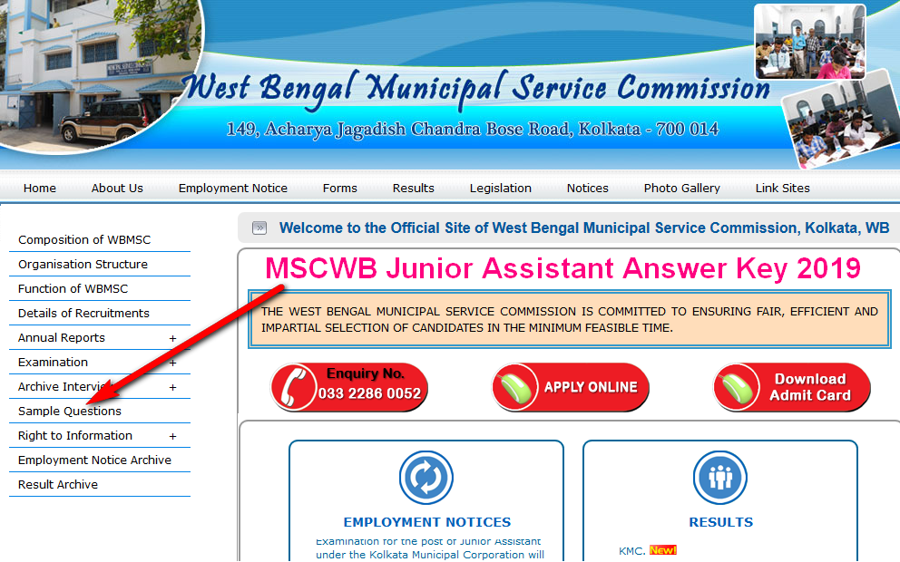 MSCWB Junior Assistant Answer Key 2019