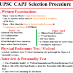 UPSC CAPF Recruitment 2019