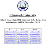 www.dibru.ac.in Result 2019