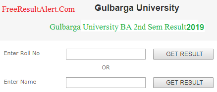 Gulbarga University BA 2nd Sem Result 2019