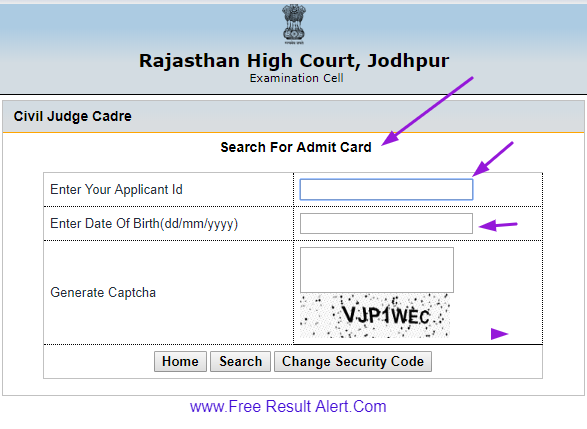 Rajasthan High Court Civil Judge Admit Card 2019