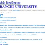 Ranchi University BA Part 1 Result 2019