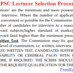 WBPSC Lecturer Admit Card 2020