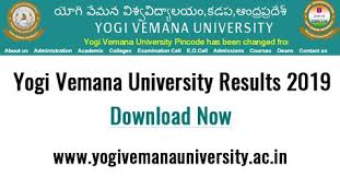 YVU Degree 6th Sem Results 2019