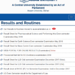 www.aus.ac.in Results 2019