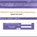 AP DEECET Hall Ticket Download 2019