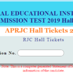 APRJC Hall Tickets 2019