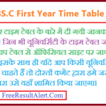 BSc 1st Year Time Table 2020