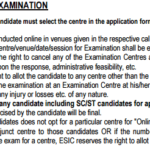ESIC UDC Stenographer Admit Card 2019 Exam Date Centre List