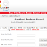 JAC 8th Board Exam Result 2019 Name Wise